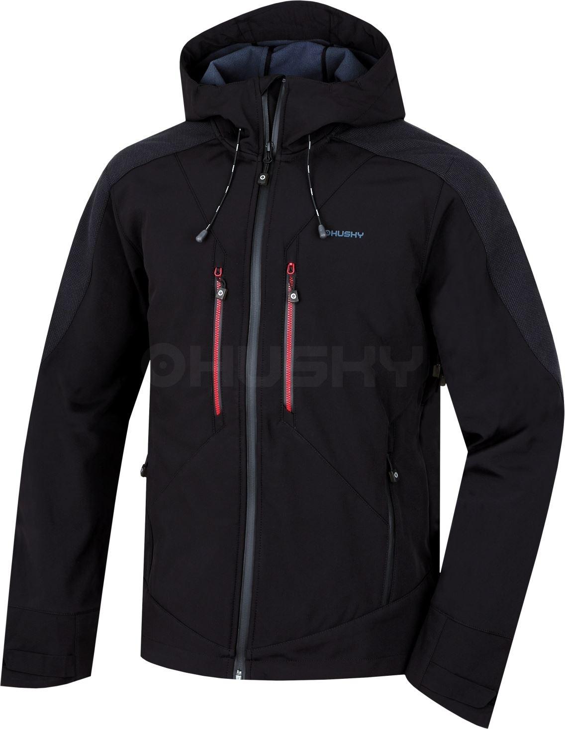 Husky Pánská softshell bunda Sevan M černá Velikost: M