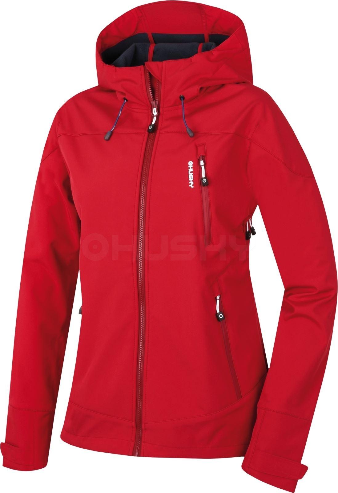 Husky Dámská softshell bunda Sevan L červená Velikost: M