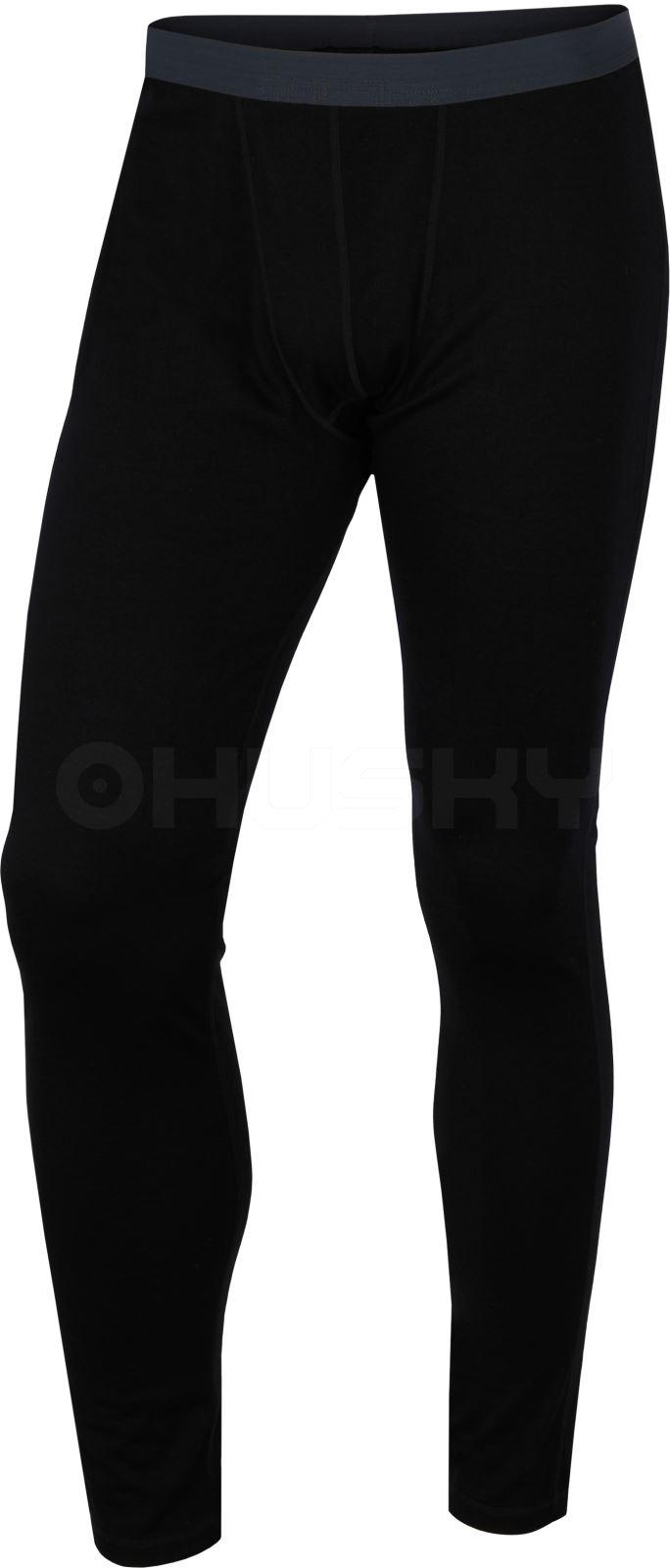 Husky Merino termoprádlo Kalhoty pánské černá Velikost: L