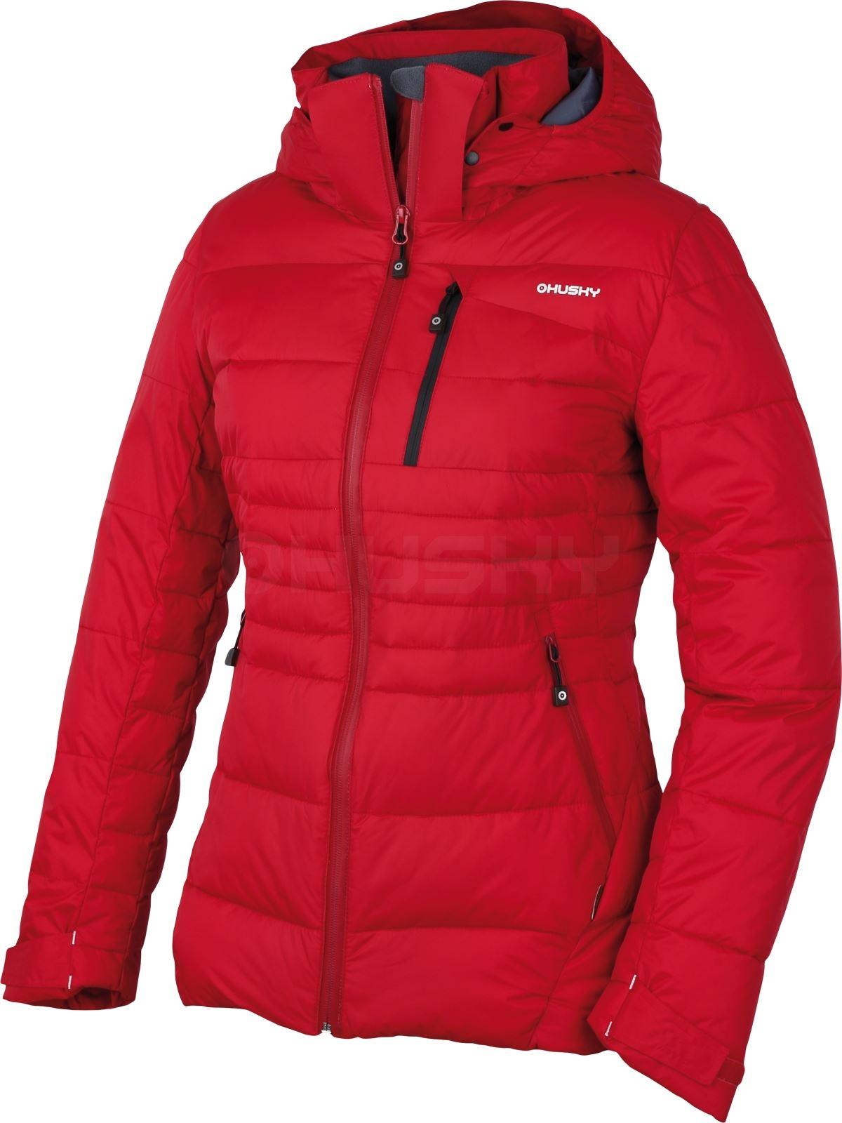 Husky Dámská plněná zimní bunda Norel L červená Velikost: M