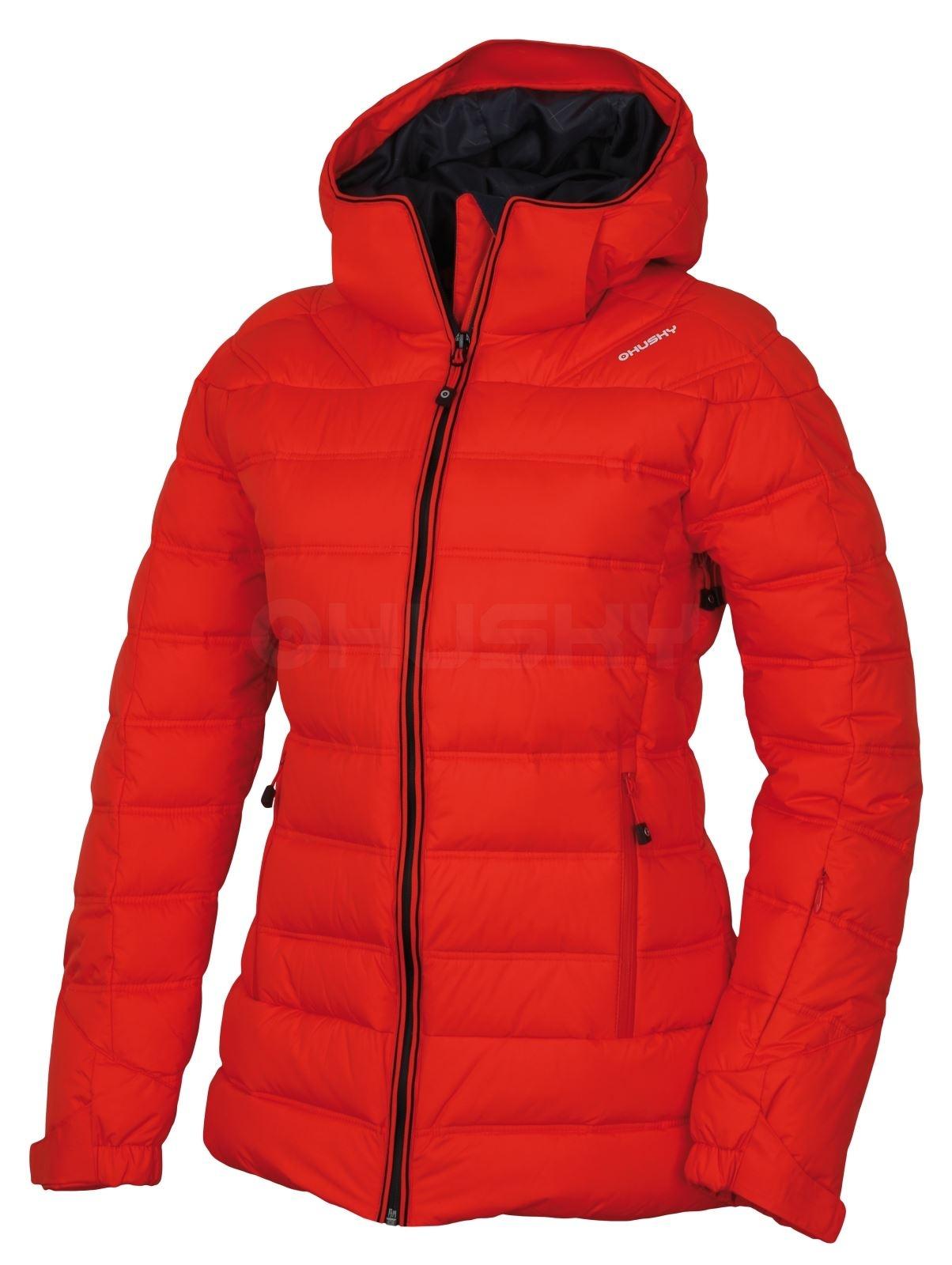 Husky Dámská péřová bunda Fadin L sv. červená Velikost: M