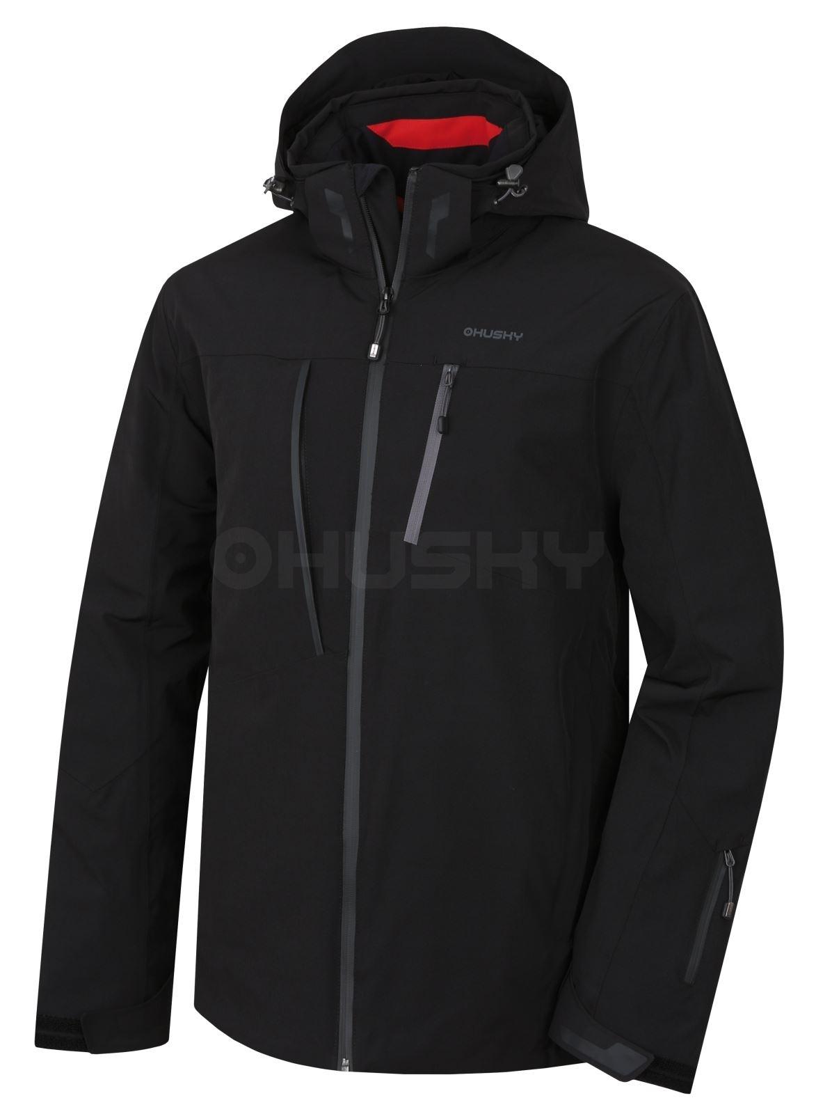 Husky Pánská lyžařská bunda Gairi M černá Velikost: L - long