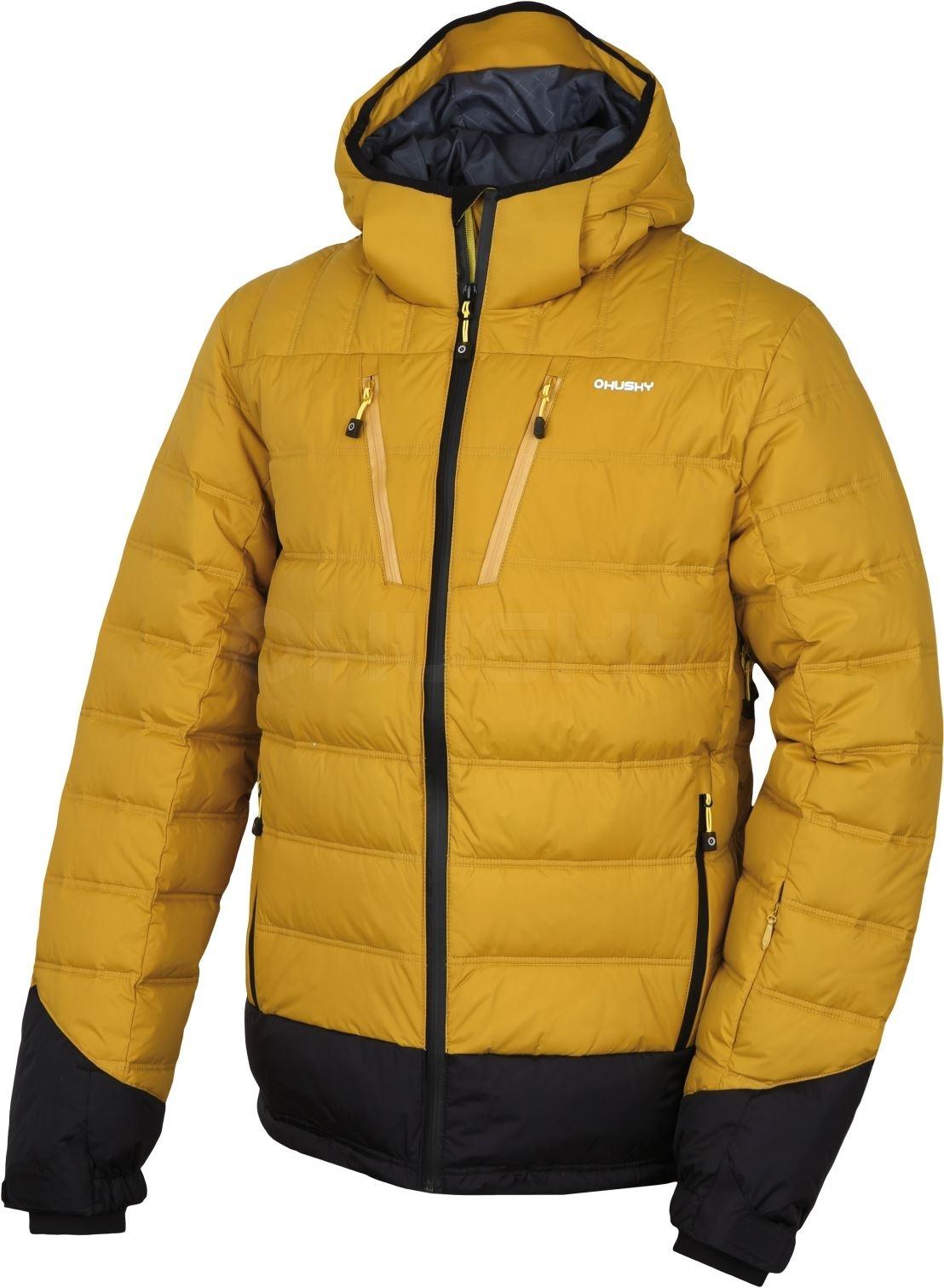 Husky Pánská péřová bunda Fadin M tm.hořčicová Velikost: XL