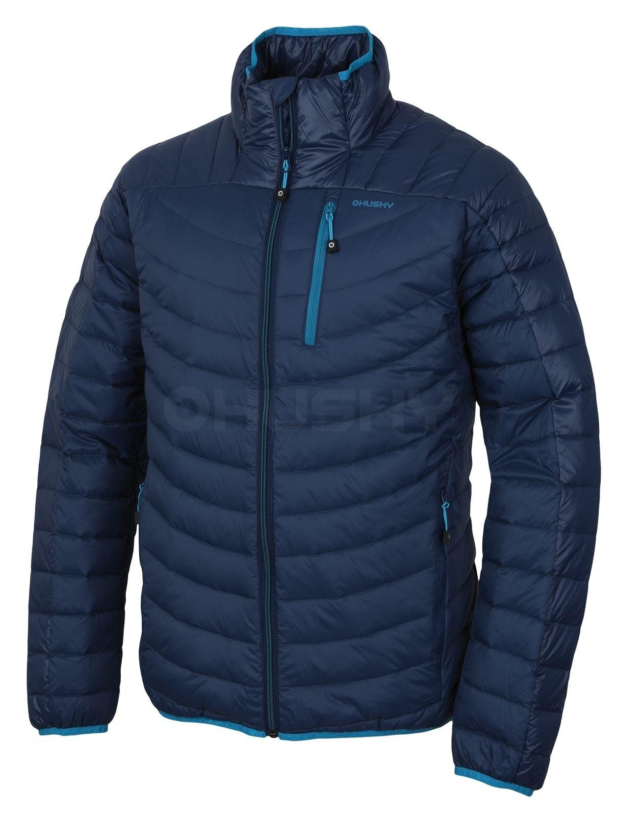 Husky Pánská péřová bunda Dyan M tm.modrá Velikost: L - long