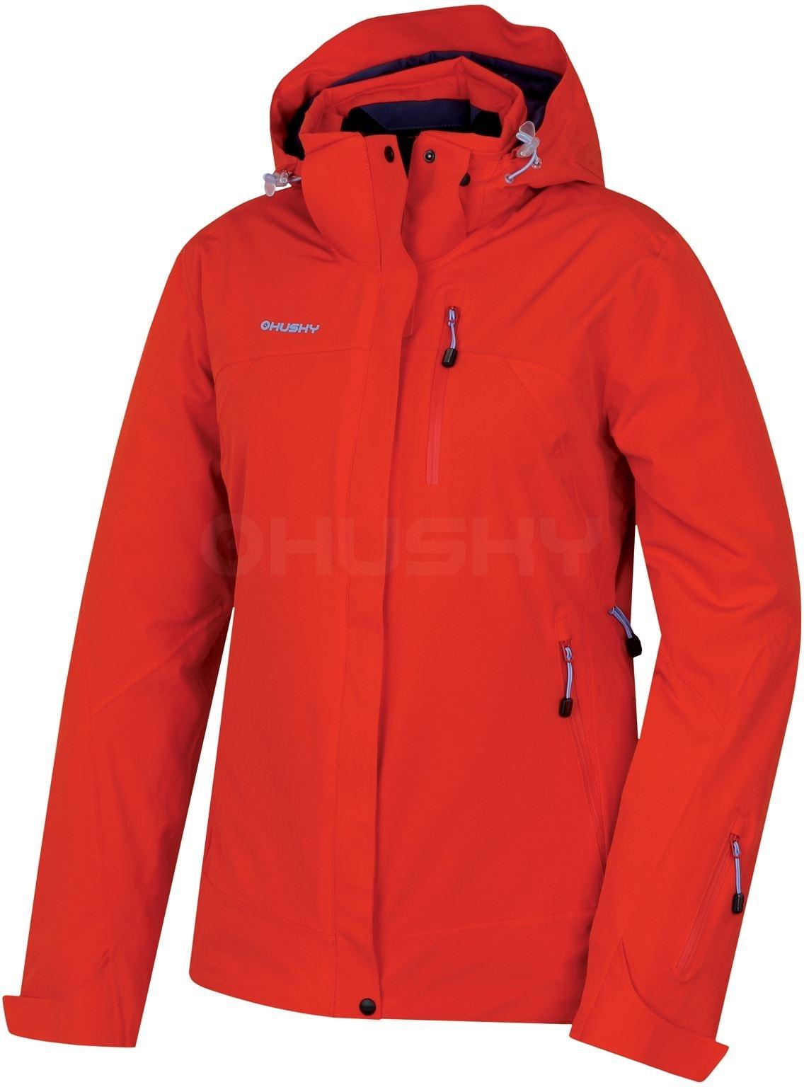 HUSKY Dámská lyžařská bunda Gairi L sv. červená Velikost: M
