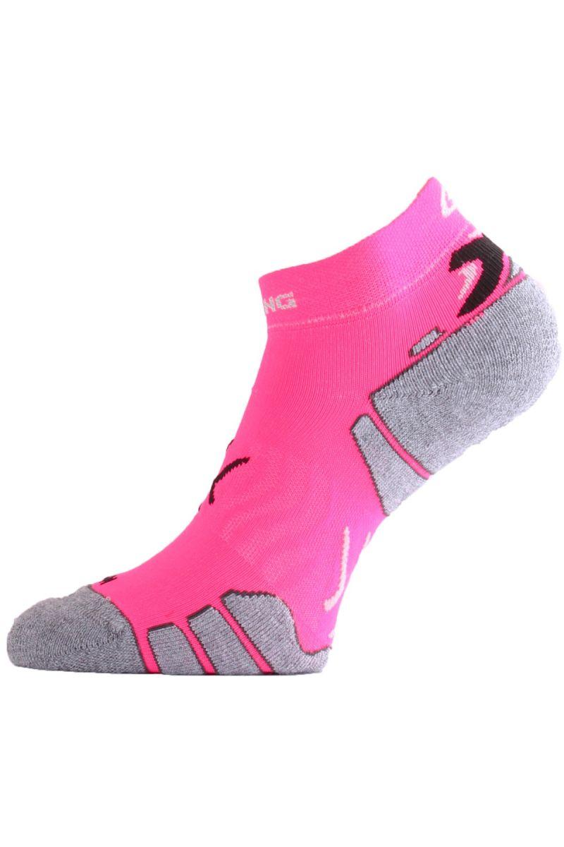 Lasting RUN 450 růžová běžecké ponožky Velikost: (38-41) M ponožky