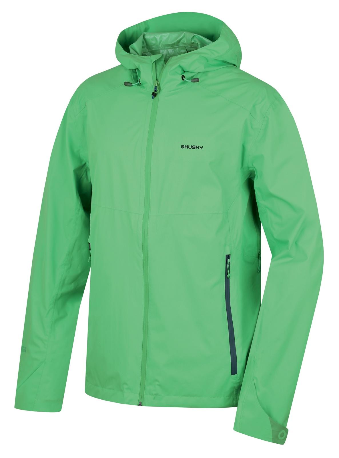 Husky Pánská outdoor bunda Lamy M sv. zelená Velikost: L