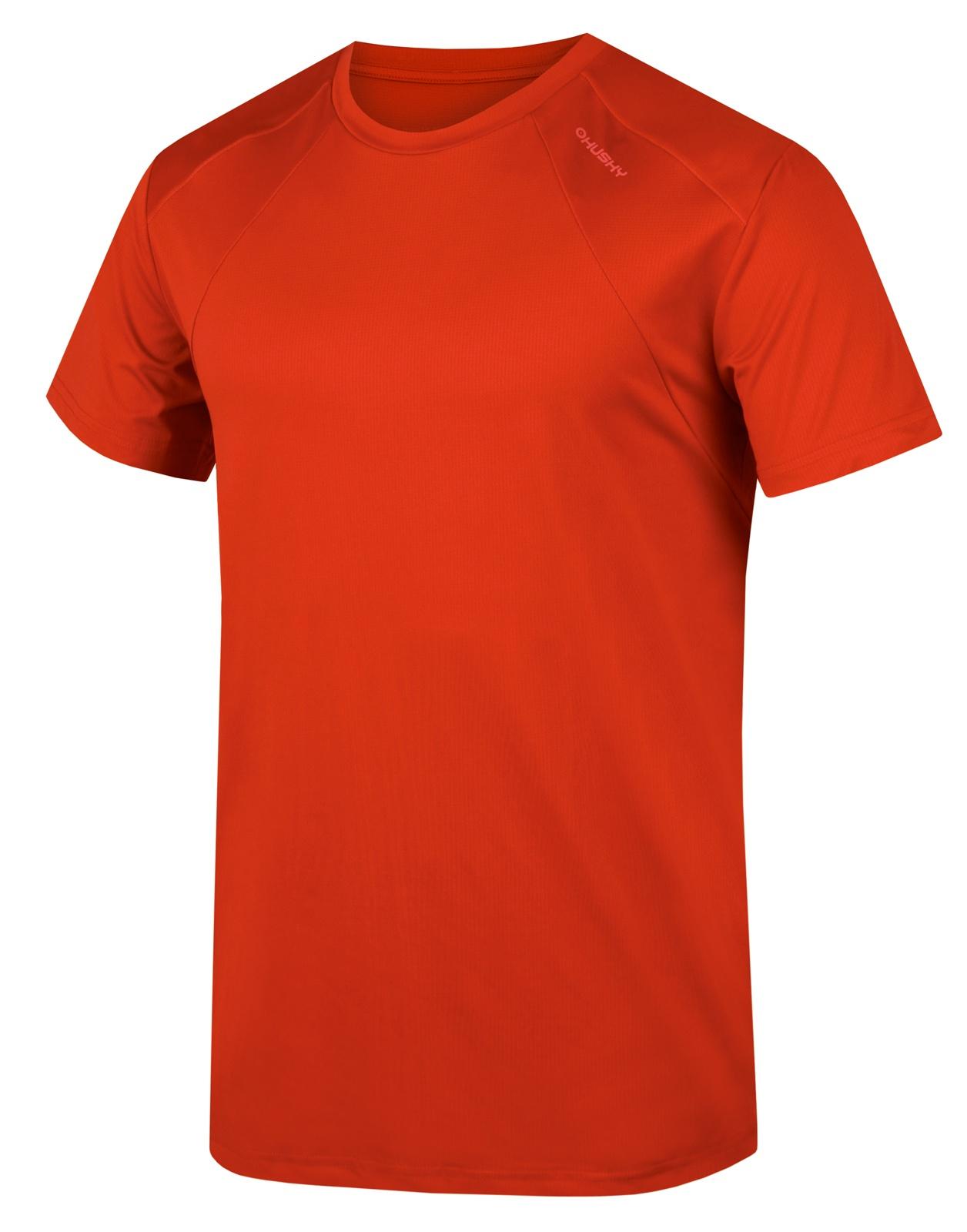 Husky Pánské triko Telly M tm. červená Velikost: M