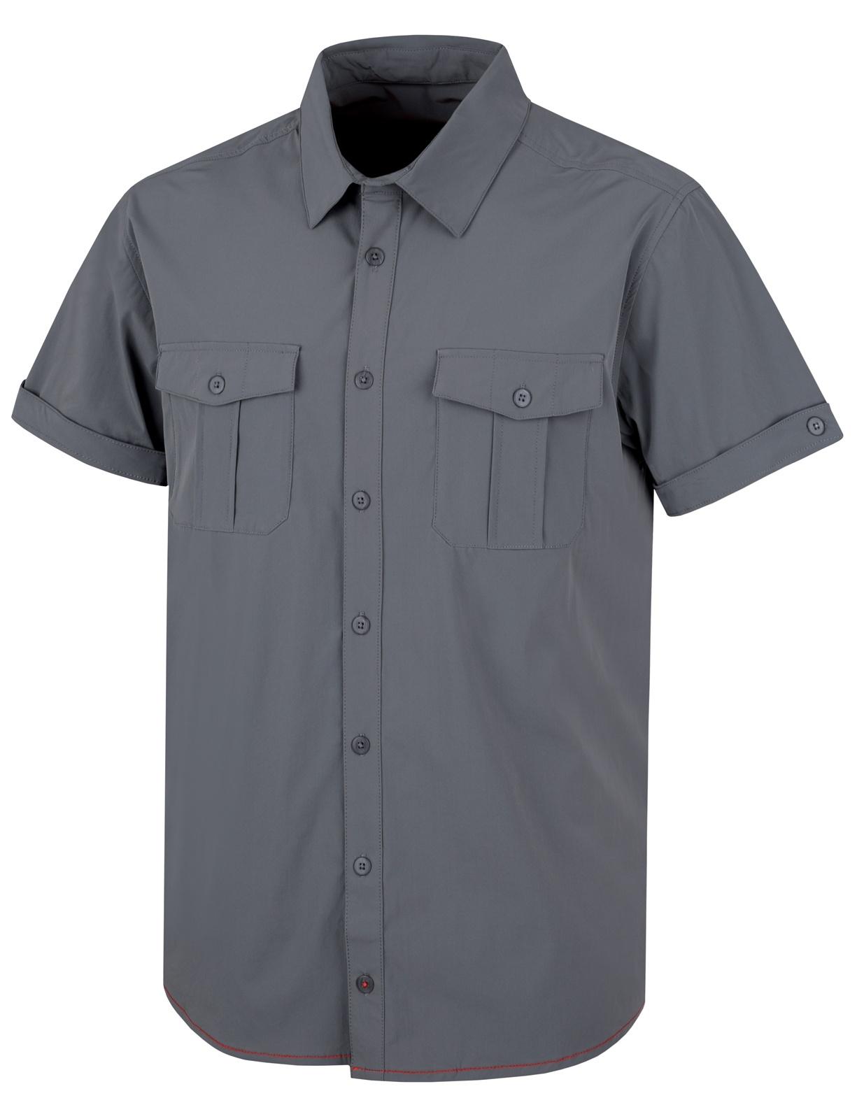 Husky Pánská košile Gomy šedá Velikost  L d0ec2087cd