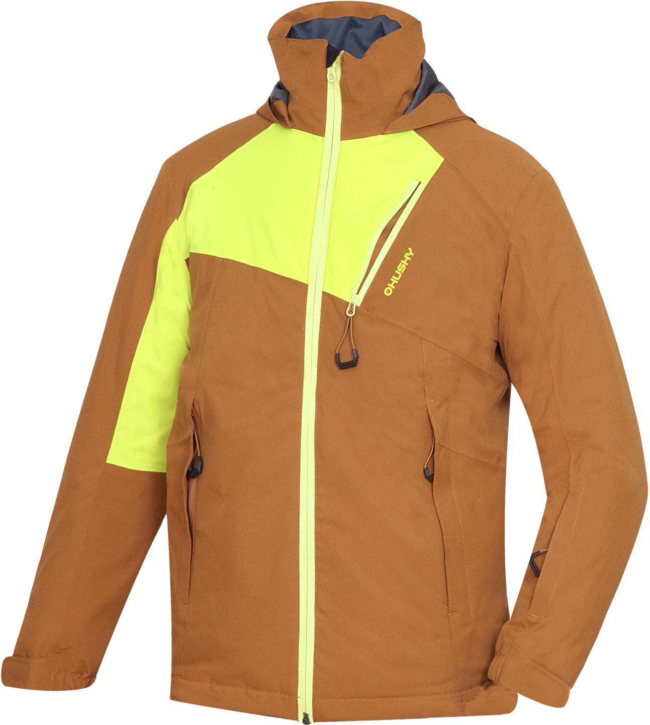 Husky Dětská ski bunda Zawi Kids tm. okrová Velikost: 134