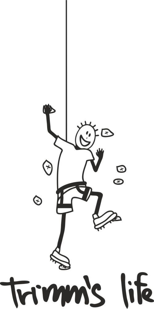 Trimmslife triko orange Velikost: XXL, Motivy: Climbing