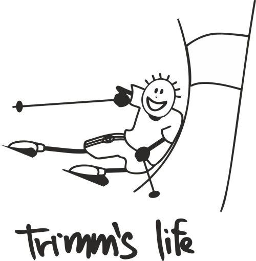 Trimmslife triko orange Velikost: XXL, Motivy: Skiing