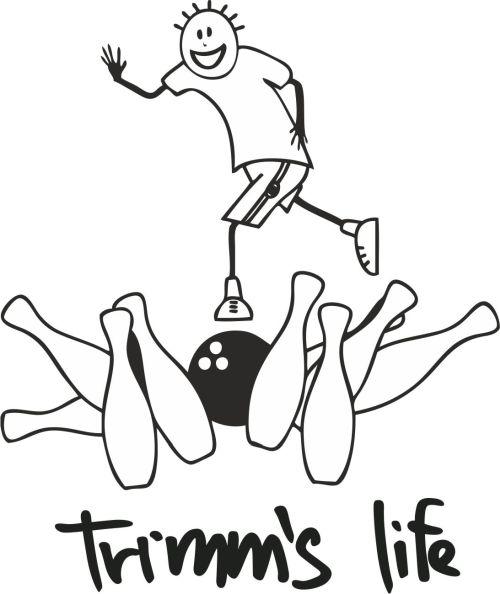 Trimmslife triko orange Velikost: XXL, Motivy: bowling1
