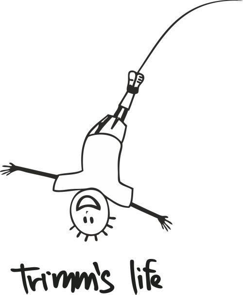 Trimmslife triko orange Velikost: XXL, Motivy: bungee