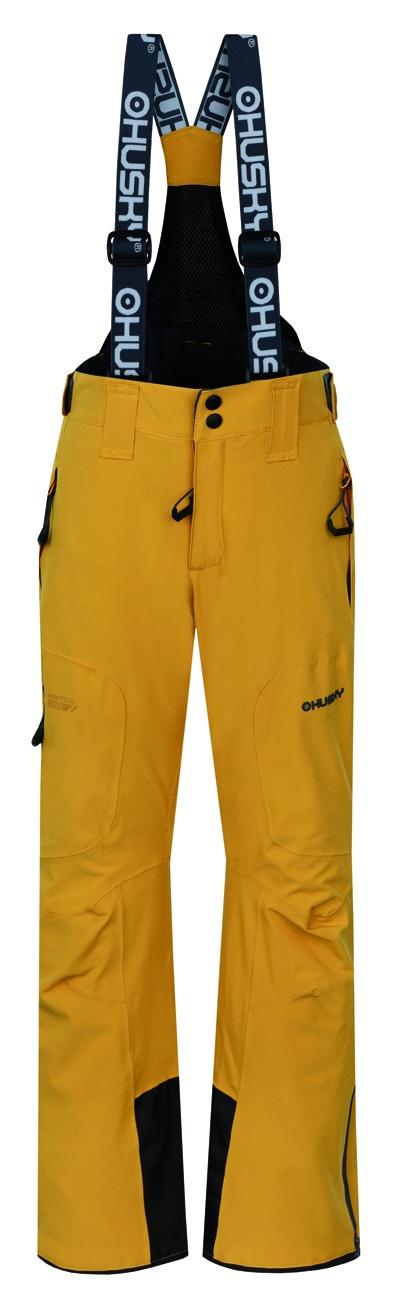 Husky Dětské lyžařské kalhoty Zeus Kids krémově žlutá Velikost: 164-170