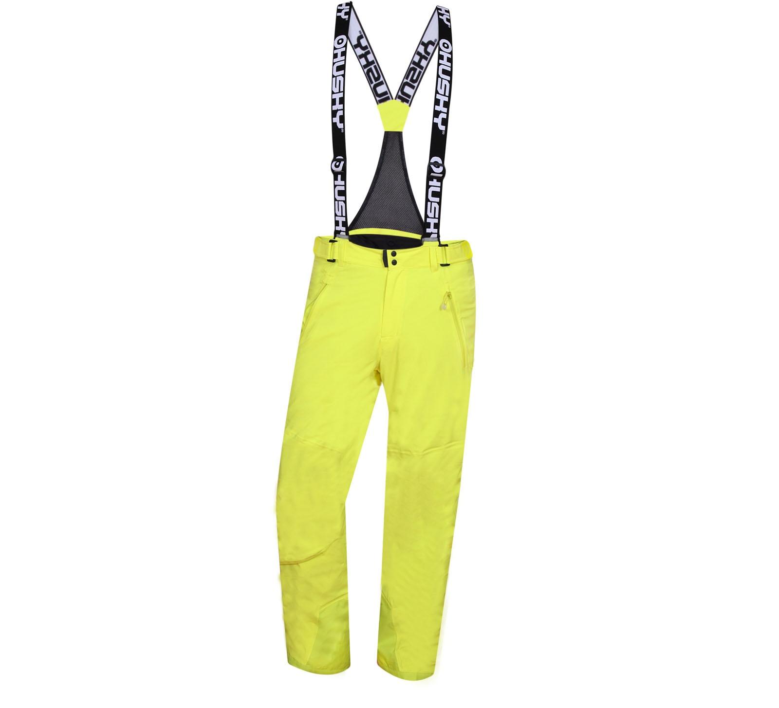 Husky Pánské lyžařské kalhoty Mithy M zelenožlutá Velikost: XL