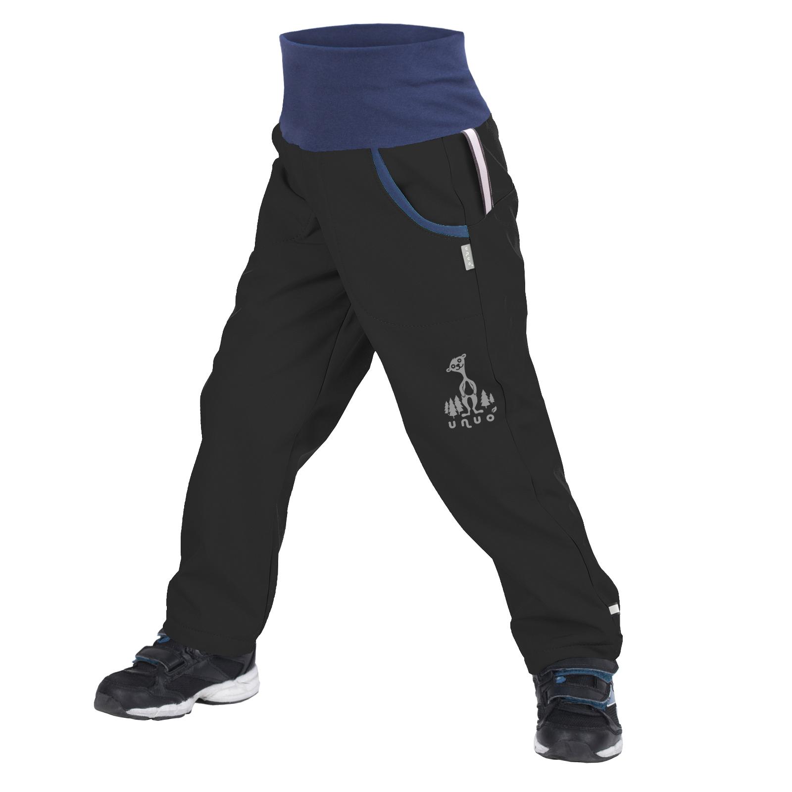 unuo softshellové kalhoty s fleecem Černé + reflexní obrázek Evžen Velikost UNI (Size): 98/104