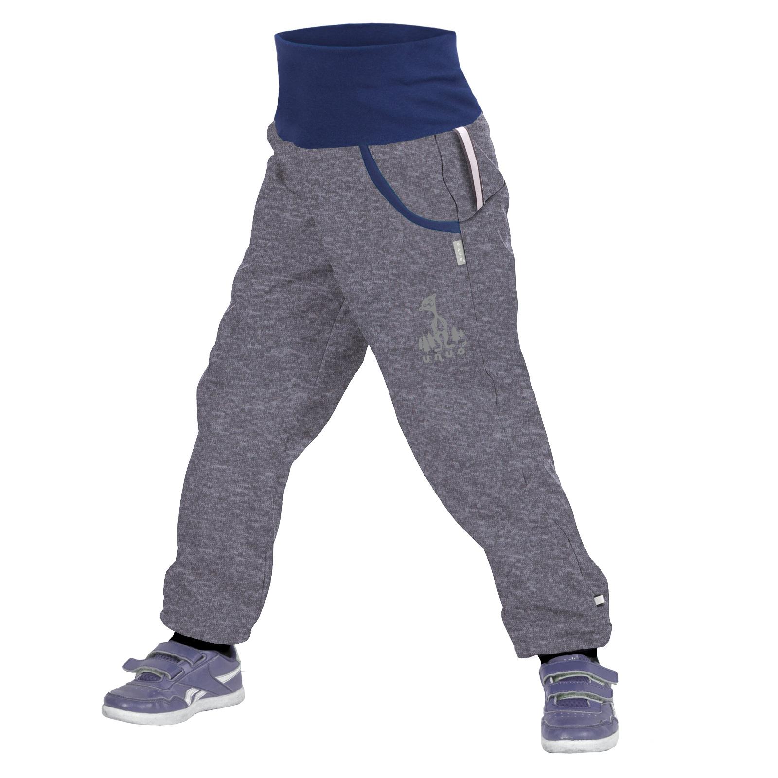 unuo softshellové kalhoty s fleecem Melír šedý + reflexní obrázek Evžen Velikost UNI (Size): 98/104