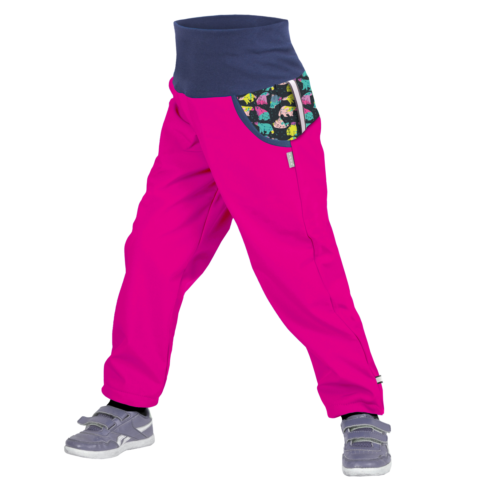 unuo softshellové kalhoty s fleecem Souhvězdí medvěda fuchsiové Velikost UNI (Size): 110/116