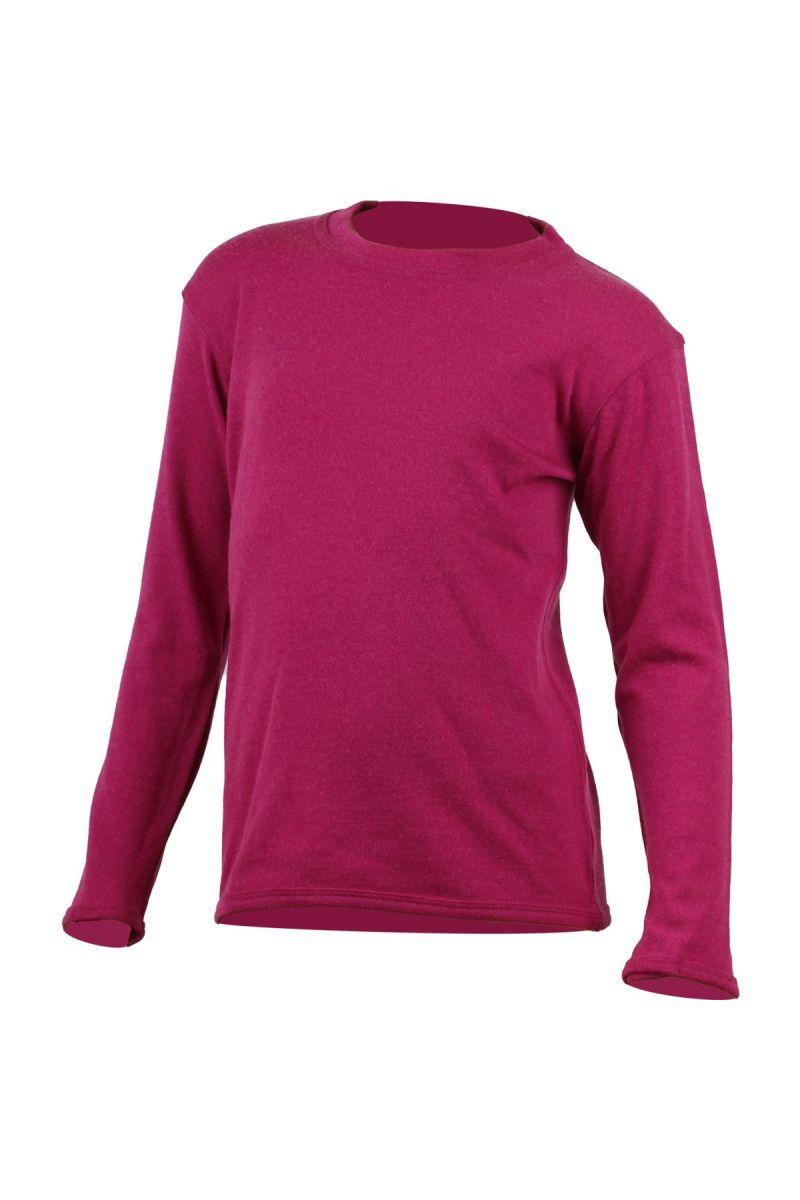 Lasting SNOPY 4545 růžová vlněná merino mikina Velikost: 130
