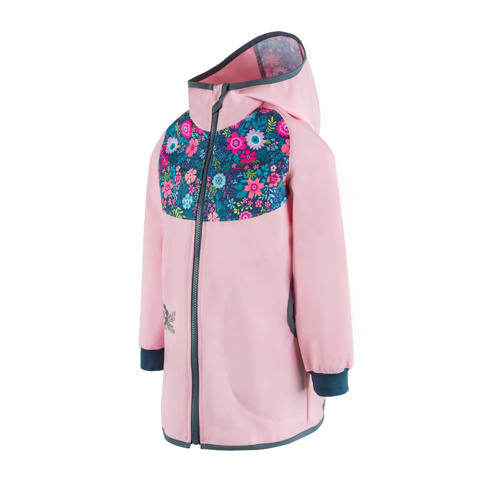 unuo Softshellový kabátek bez zateplení Květinky, Sv. růžová (Unuo softshell spring coat prin