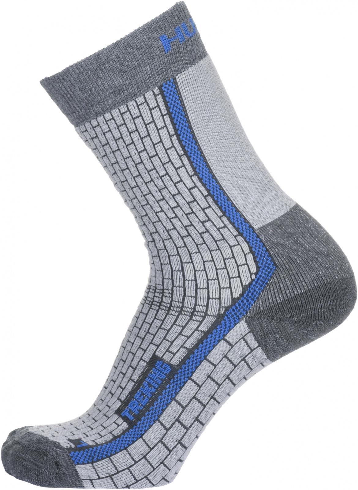 Husky Ponožky Treking šedá/modrá Velikost: L (41-44) ponožky