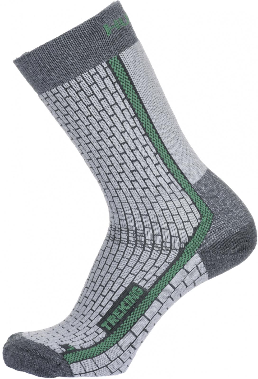 Husky Ponožky Treking šedá/zelená Velikost: M (36-40) ponožky
