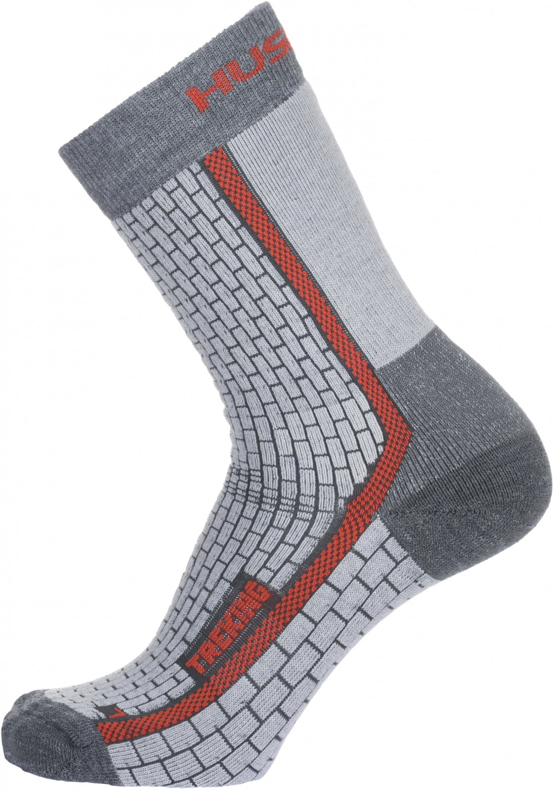 Husky Ponožky Treking šedá/červená Velikost: L (41-44) ponožky
