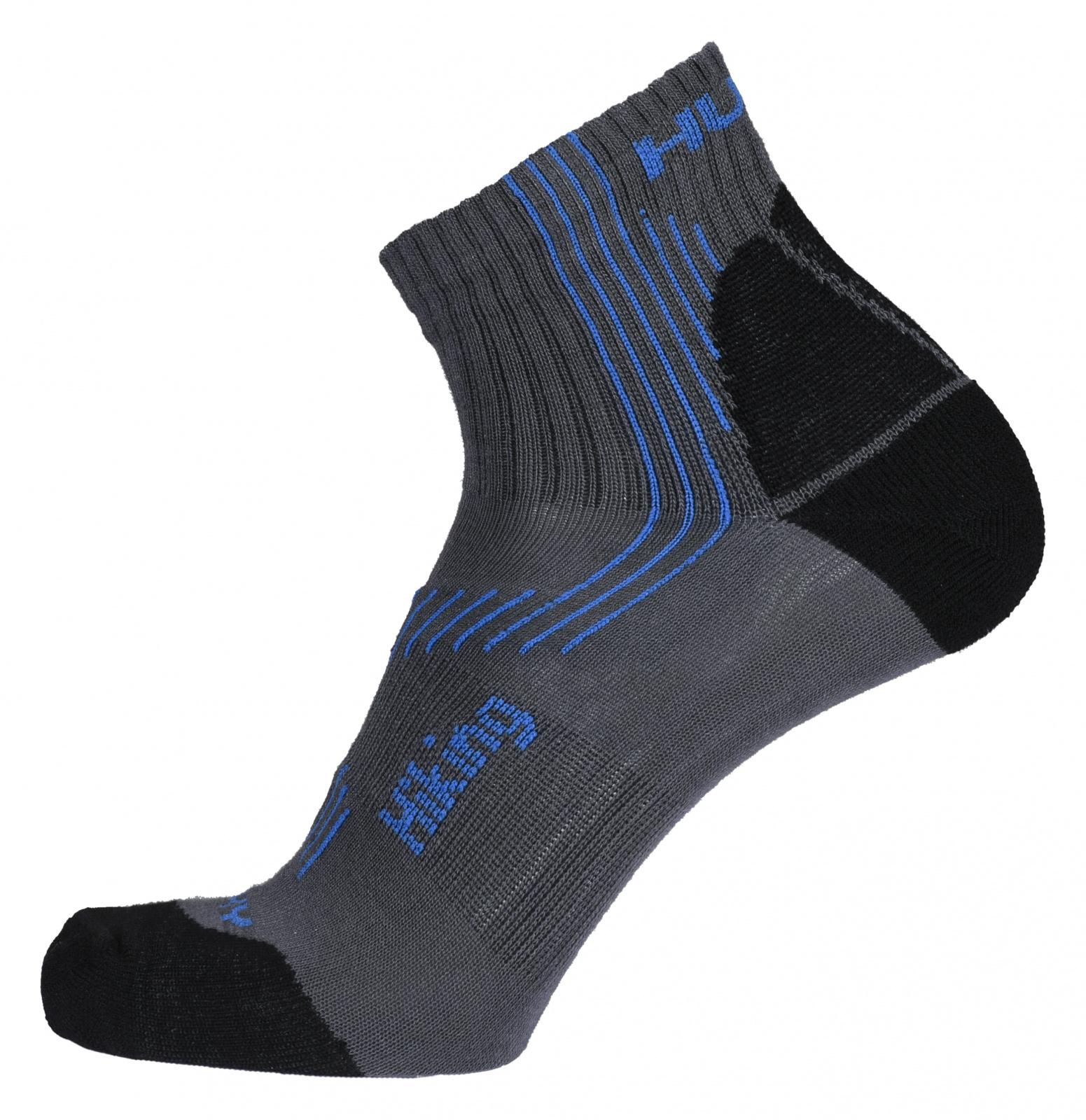 Husky Ponožky Hiking šedá/modrá Velikost: L (41-44) ponožky