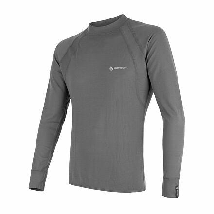 SENSOR DOUBLE FACE pánské triko dl.rukáv šedá Velikost: L