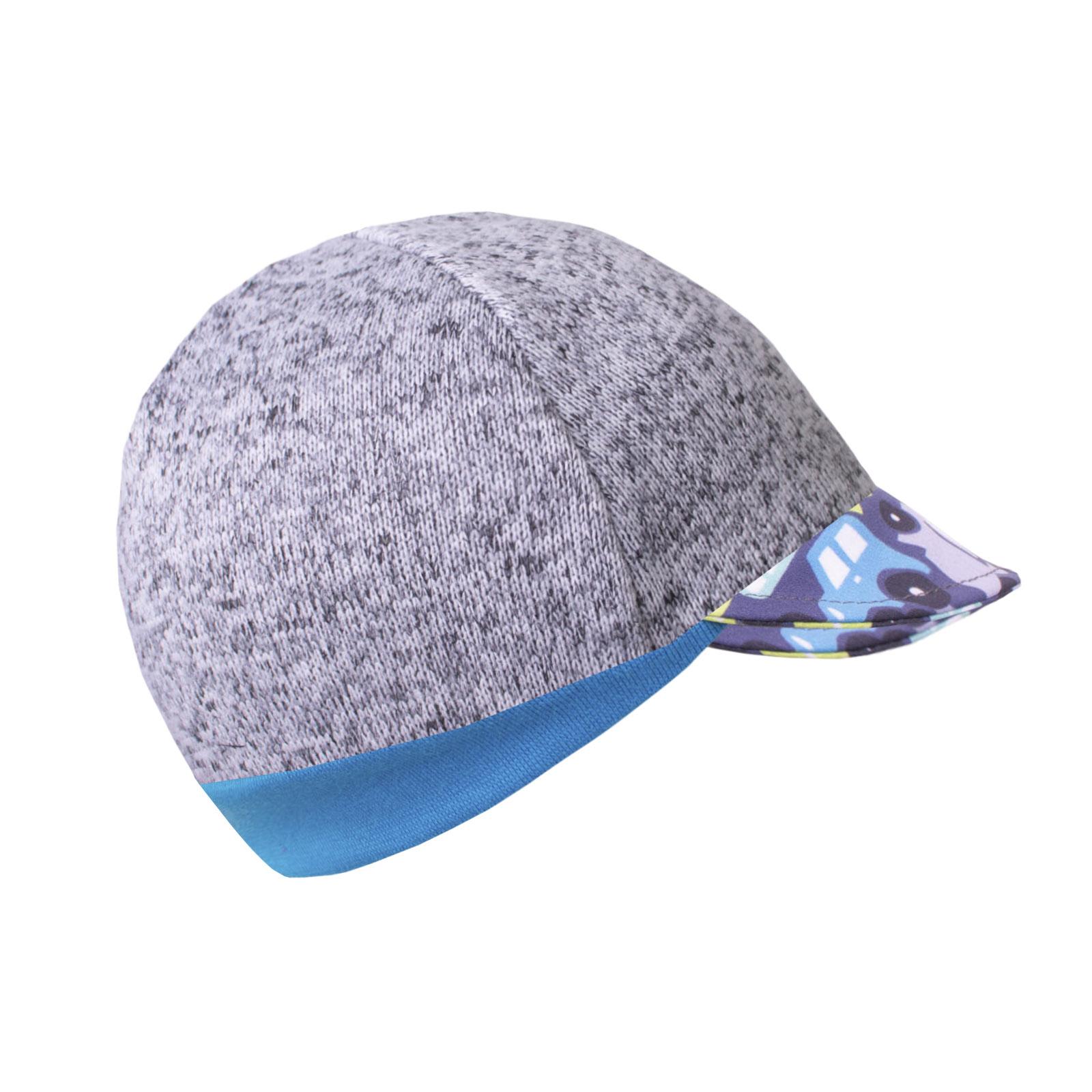 Unuo Svetrovinová čepice s kšiltem, Melír sv. šedá, Autíčka Velikost: L (53 - 58 cm)