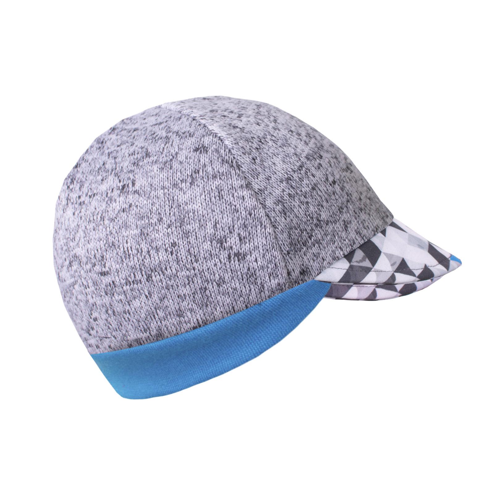 Unuo Svetrovinová čepice s kšiltem, Melír sv. šedá, Metricon kluk Velikost: S (45 - 48 cm)