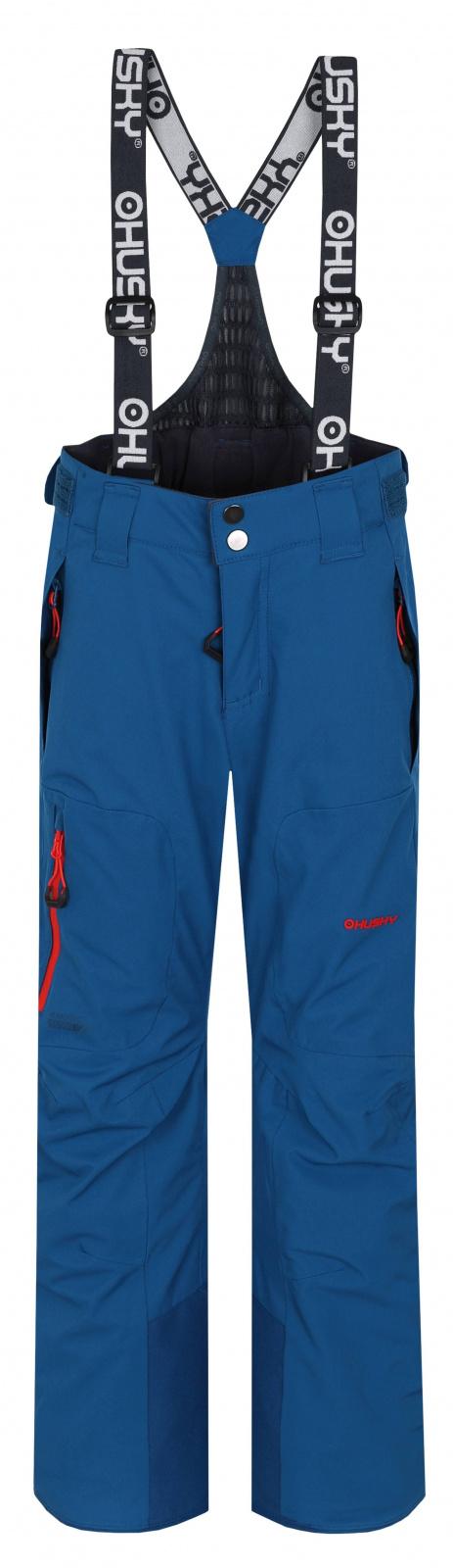 Husky Dětské lyžařské kalhoty Zeus Kids tm. modrá Velikost: 164-170