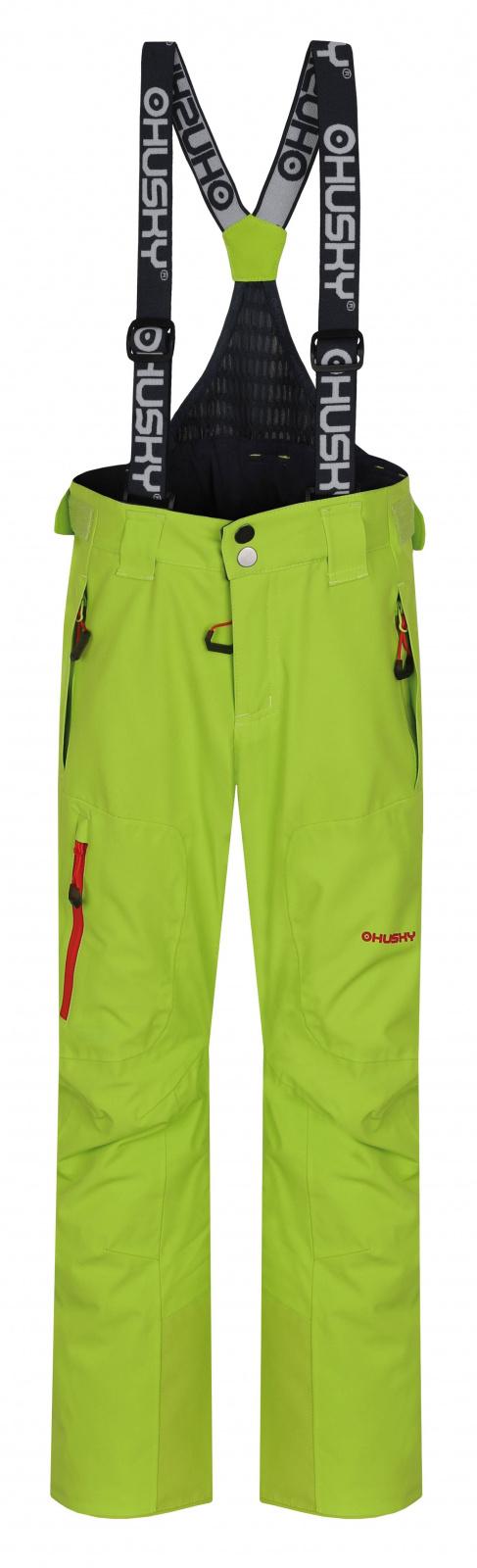 Husky Dětské lyžařské kalhoty Zeus Kids výrazně zelená Velikost: 164-170