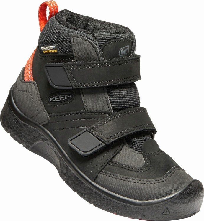 Keen HIKEPORT MID STRAP WP K - black/bright red Velikost: 27/28