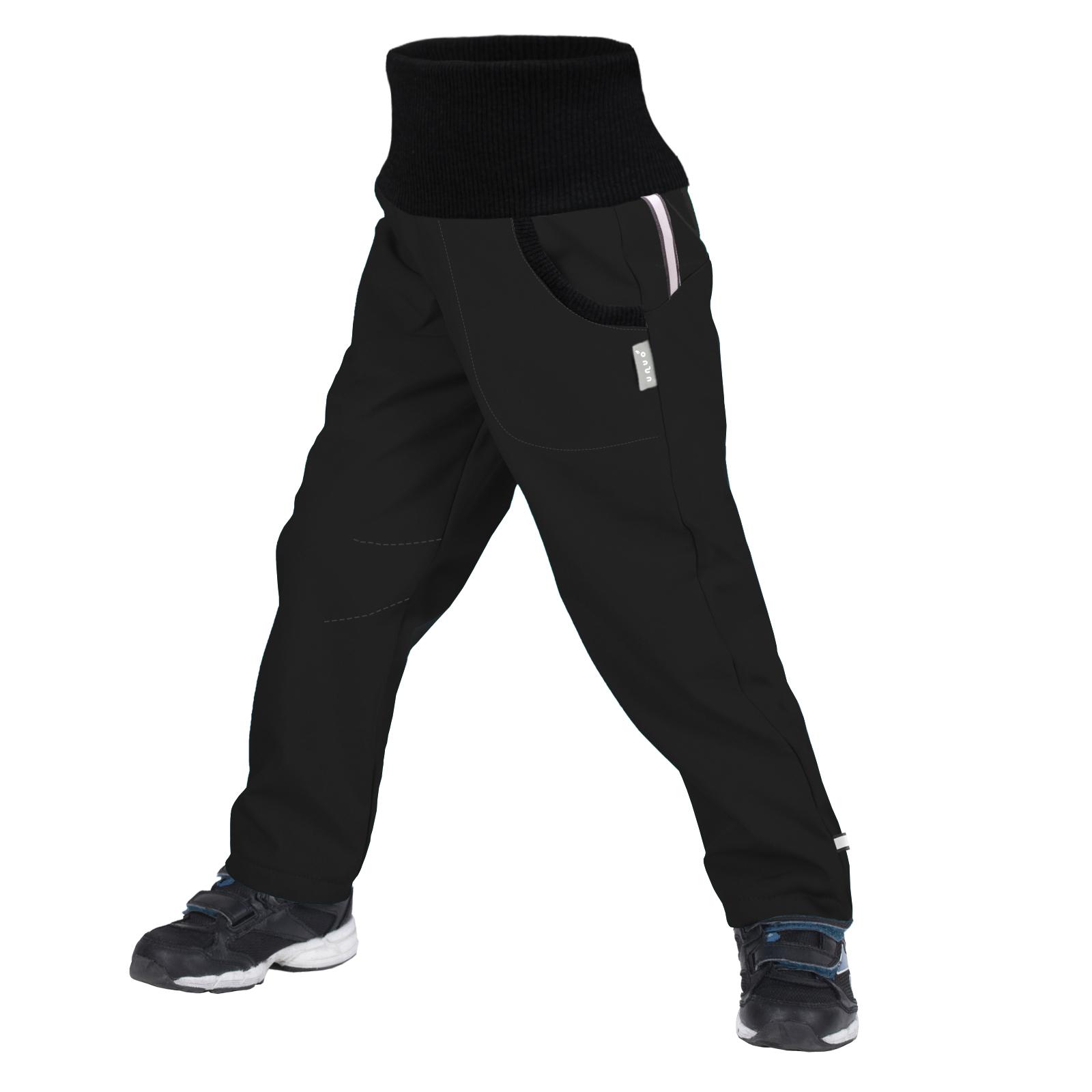 Unuo Softshellové kalhoty s fleecem Street, Černá Velikost: 110/116