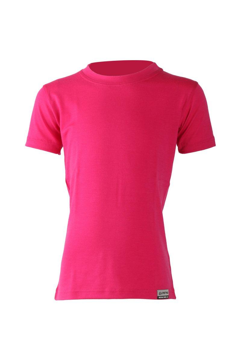 Lasting dětské merino triko TONY růžové Velikost: 110