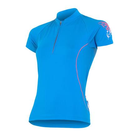 SENSOR CYKLO ENTRY dámský dres kr.ruk. modrá Velikost: L