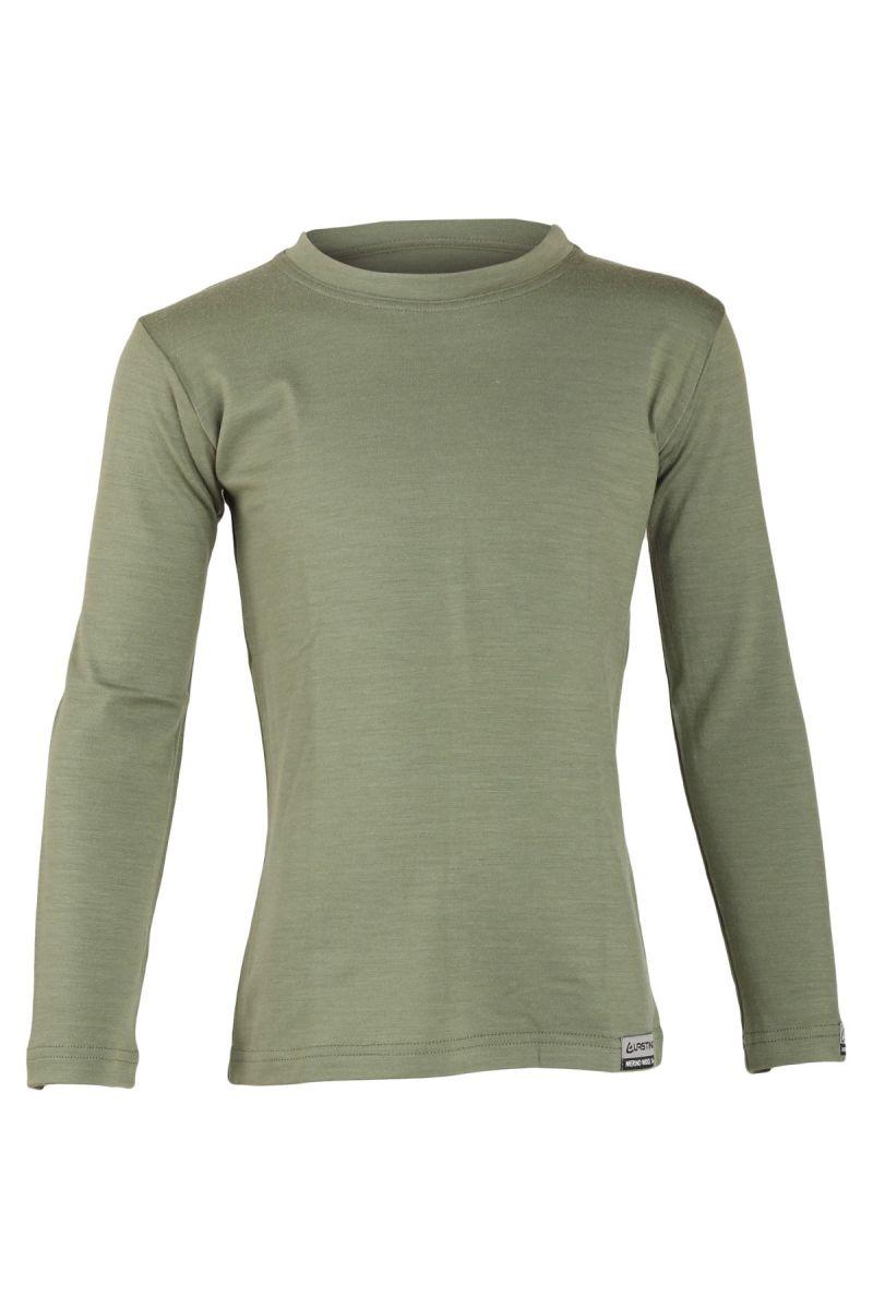 E-shop Lasting Lasting dětské merino triko LONY zelené