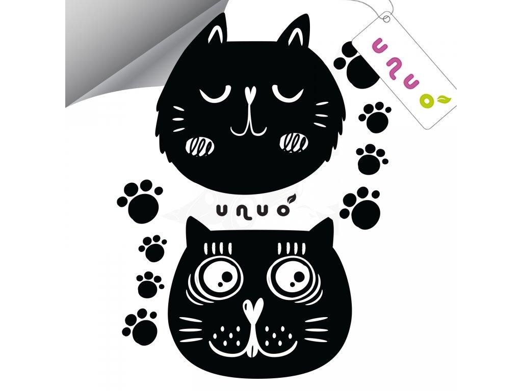 Unuo Reflexní nažehlovací panel 9 x 13 cm, Kočky