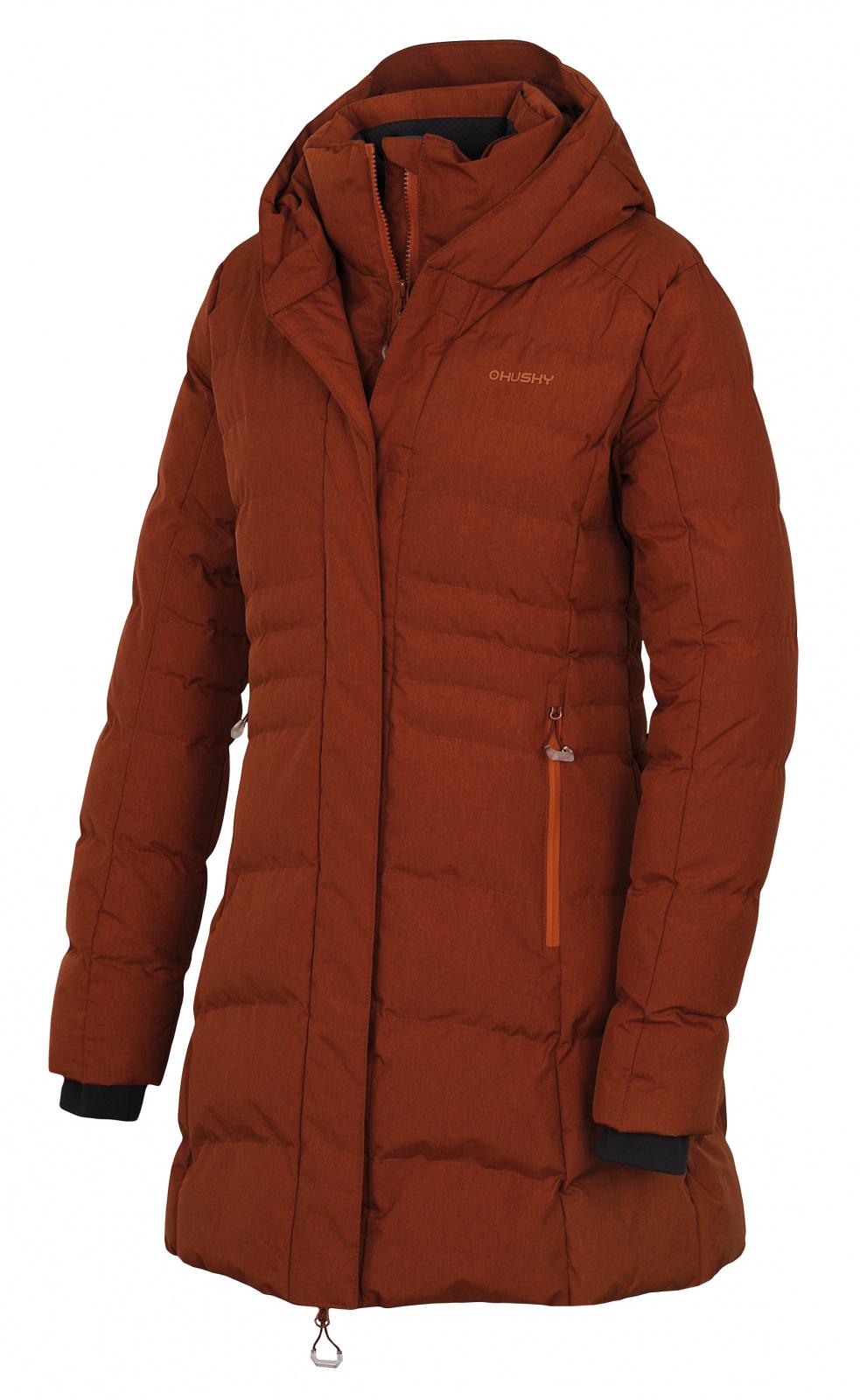 Husky Dámský hardshell plněný kabátek Normy L hnědá Velikost: L