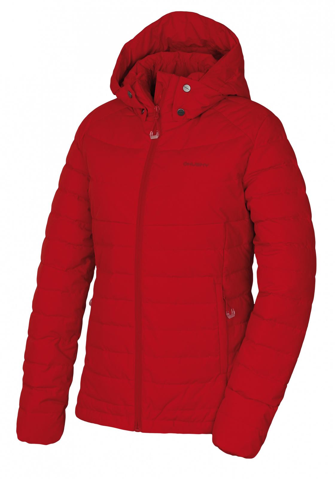 Husky Dámská péřová bunda   Donnie L červená Velikost: XS