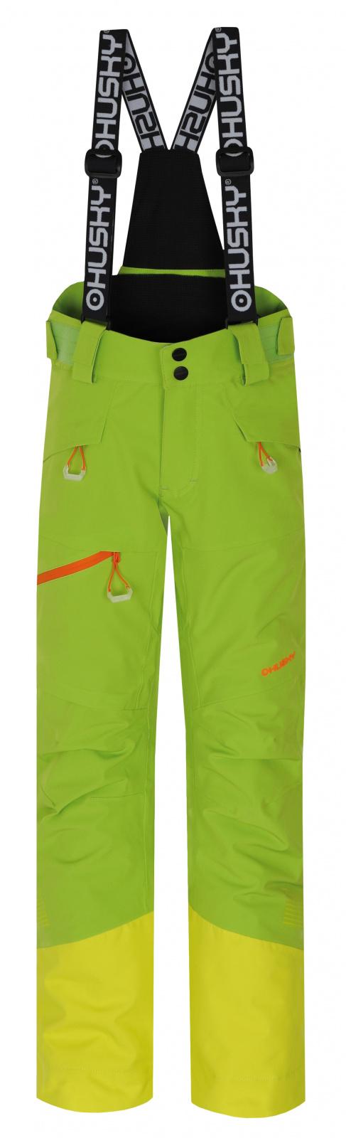 Husky Dětské lyžařské kalhoty Gilep Kids zelená Velikost: 134