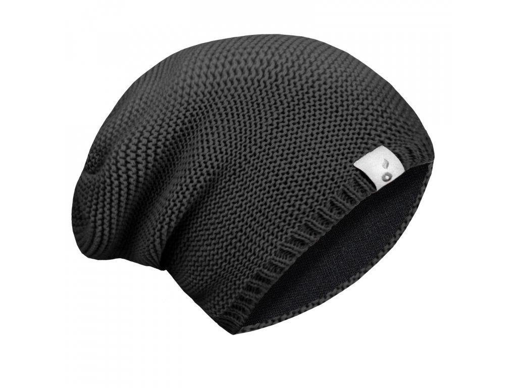 Unuo dětská čepice pletená černá Velikost: L