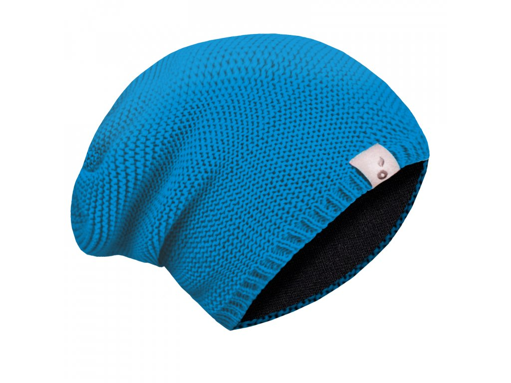 Unuo, Dětská čepice pletená, Tyrkysová Velikost: L