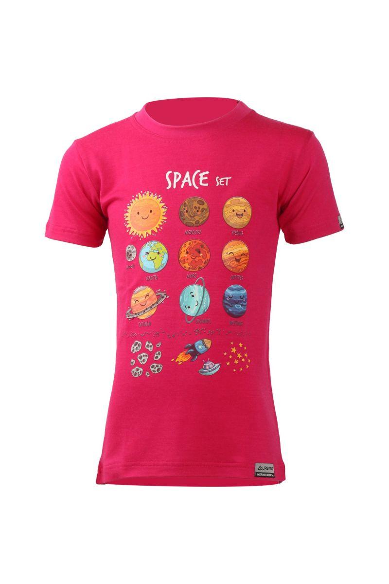 Lasting dětské merino triko LUNA růžové Velikost: 110