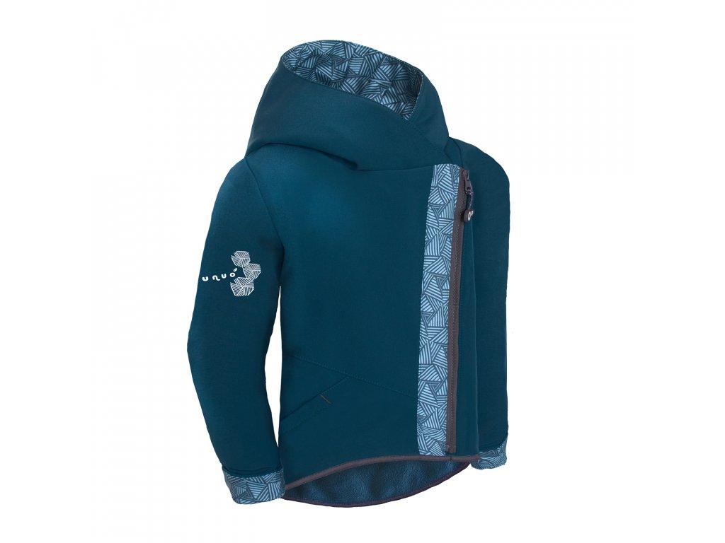 Unuo, Dětská softshellová bunda s fleecem Cross, Kobaltová, Sharp kluk Velikost: 134/140 dětská bunda