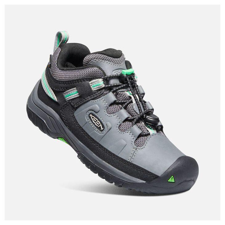 Keen TARGHEE LOW WP YOUTH steel grey/irish green Velikost: 37 dětské boty