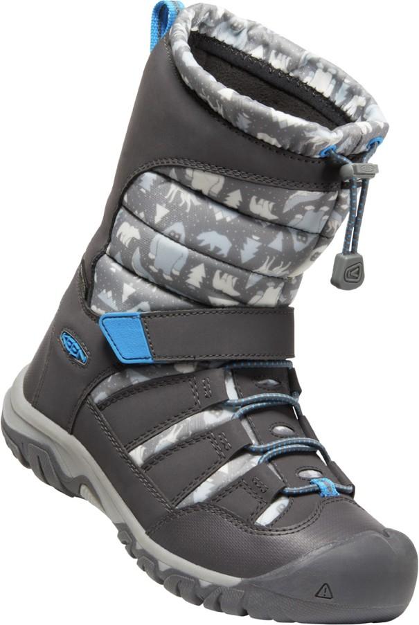 Keen WINTERPORT NEO DT WP YOUTH steel grey/brilliant blue Velikost: 37 dětské boty