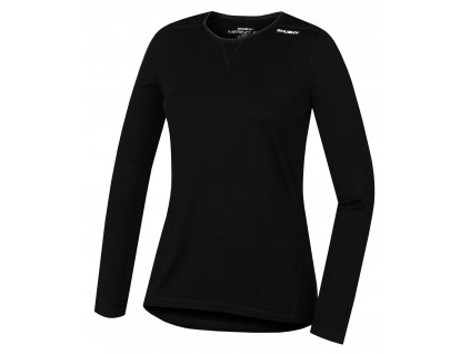 Husky Merino termoprádlo Tričko dlhé dámske čierna (Veľkosť L)